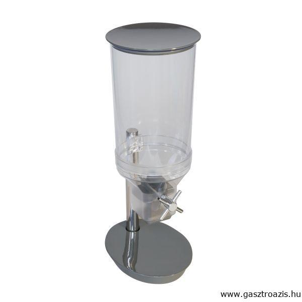 Müzli adagoló malom 4,5l, 24,0x17,5x49,5cm szürke/átlátszó polikarbonát/melamin kivitel, (AP12051)