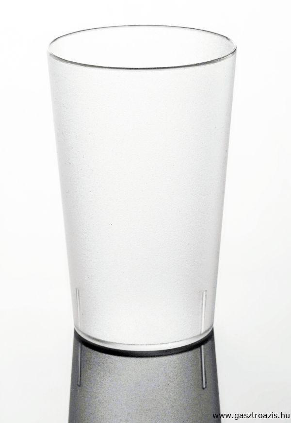 Törhetetlen polikarbonát pohár matt 3,5dl, VULCANO (AVM0440)