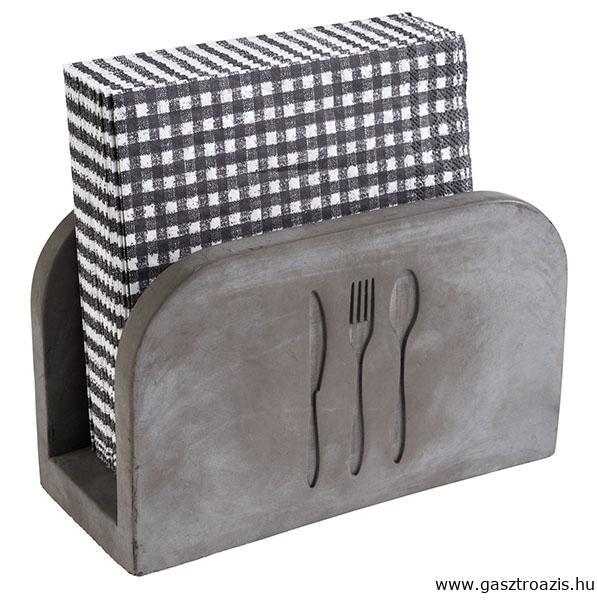 Kő szalvétatartó bútorbarát aljjal. Kb. 50db szalvétának, 16x7,5x10cm (AP11781)