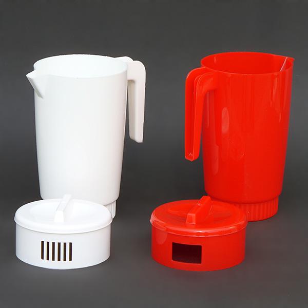 Fedeles kancsó műanyag, 2.25L-es, Piros és Fehér színben