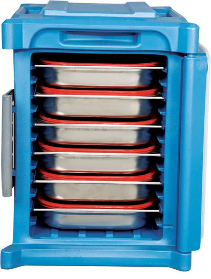 Thermoláda GN1/1 elol nyitható, Kék színben, 465x670x630mm Kapacitás kb70l
