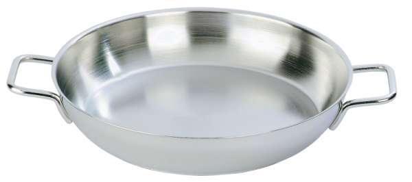 Bécsi sütő rm.acél átm:32cm mag:8cm tripla alj