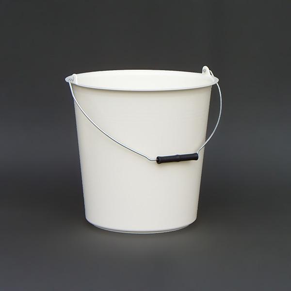 12L vödör fémfüllel 29x30 fehér