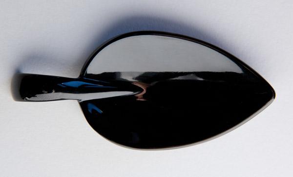 Party kanál, levél alakú, fekete, 10,5x4,5cm