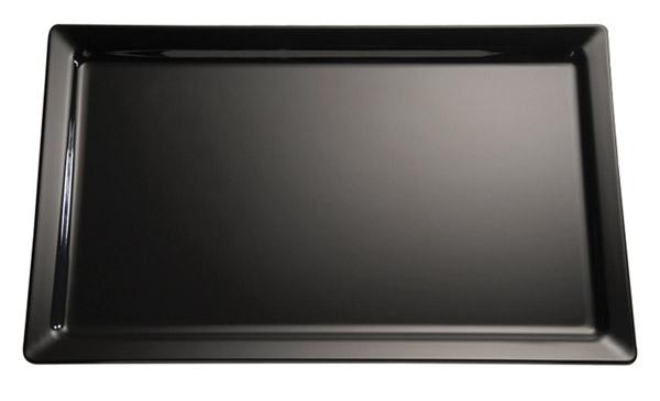 Tálca melamin GN2/4 53x16,2cm - fekete színű