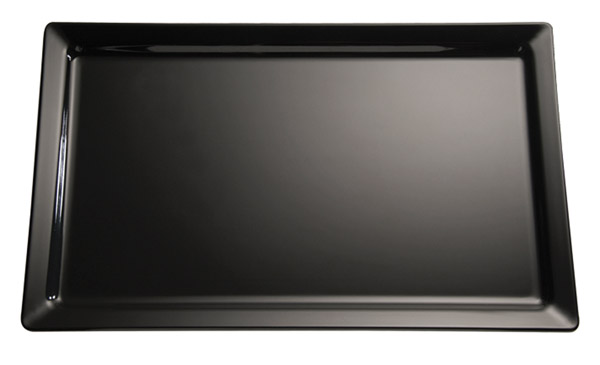 Tálca melamin GN1/2 32,5x26,5cm - fekete színű