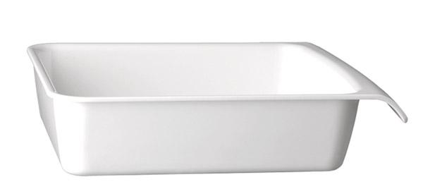 """Tálka GN 1/2 szögletes melamin """"CASCADE"""" 32,5x26,5cm, mag.:7,5cm, 3,65l - fehér színű"""