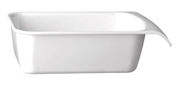 """Tálka GN 1/4 szögletes melamin """"CASCADE"""" 26,5x16,2cm, mag.:7,5cm, 1,50l - fehér színű"""