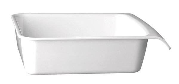 """Tálka szögletes melamin """"CASCADE"""" 28,5x25cm, mag.:7,5cm, 2,9l - fehér színű"""