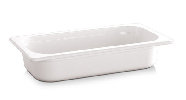 "1/4 GN edény melamin 6,5cm, ""ECO-LINE"" fehér színű"
