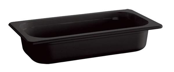 "1/3 GN edény melamin 6,5cm, ""ECO-LINE"" fekete színű"