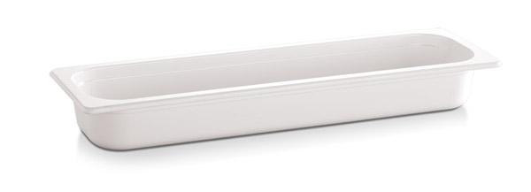 "2/4 GN edény melamin 6,5cm, ""ECO-LINE"" fehér színű"