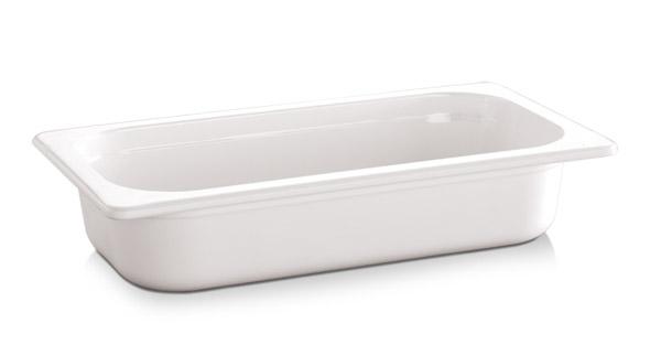 "1/2 GN edény melamin 6,5cm, ""ECO-LINE"" fehér színű"