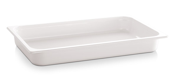"1/1 GN edény melamin 6,5cm, ""ECO-LINE"" fehér színű"