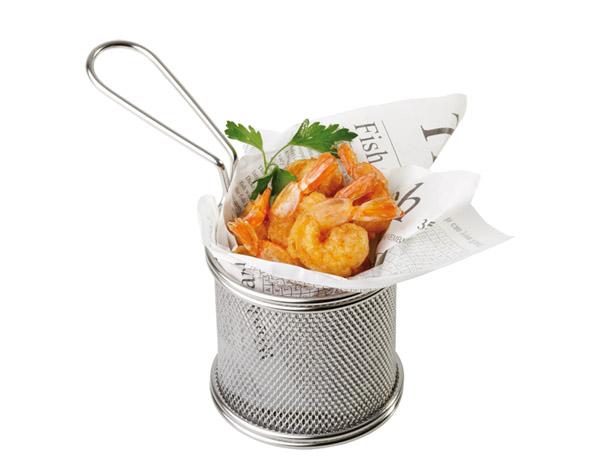 Mini fritu, fritőz kosár átm:8,0cm, mag:8,0cm AP40600