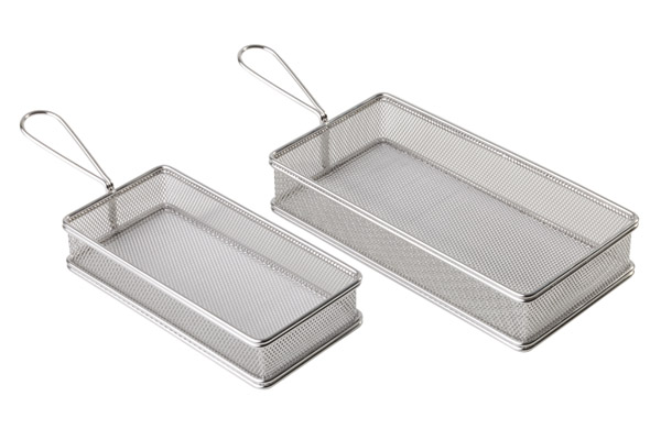 Mini fritu, fritőz kosár 21,5x10,5cm, mag:3,5cm AP40610