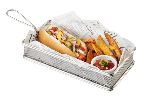 Mini fritu, fritőz kosár 26x13cm, mag:5cm AP40611