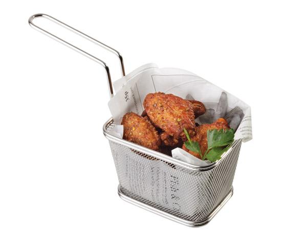 Mini fritu, fritőz kosár 10,0x9,0x5,5cm AP40620