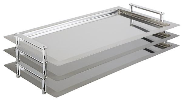 Frames tálca, GN 1/1, 53x32,5cm, egymásra rakható. Távolság: 3,5cm