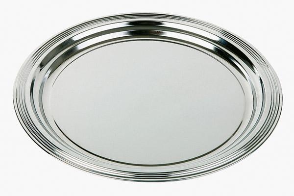 Kerek CLASSIC tálca rozsdamentes acél Átm. 35cm