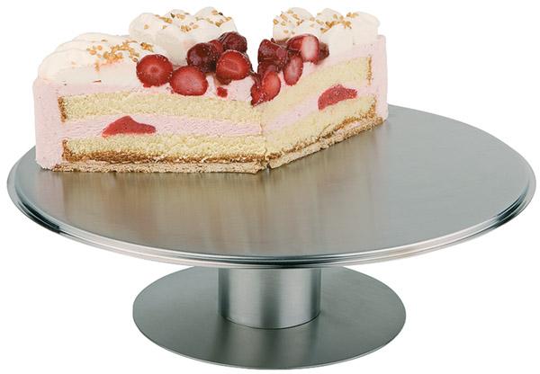 Torta kiemelő állvány rm acél, forgatható, átm. 30,5 cm, mag 9cm