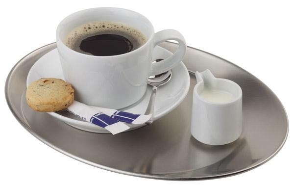 Kávéházi Tálca ovális, rm.acél 25,5x19,5cm  MATT AP30126