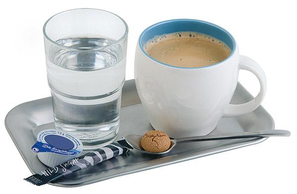 """Tálca """"kávéházi"""" rm.acél 21,5x13cm, matt AP30118"""