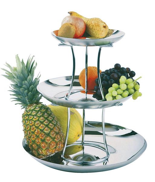 """Gyümölcsállvány """"ROYAL"""" 5-részes (3db tál átm:24-33-42cm, 2db magasító)"""