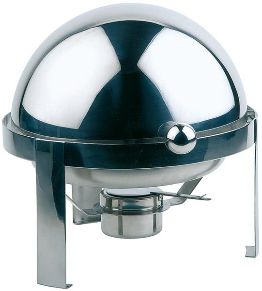 Chafing, kerek roll-toppos fedővel 3,5 liter