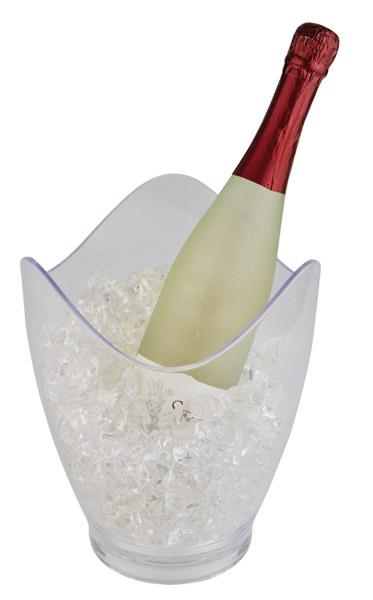 Bor és pezsgőhűtő Átm. 20cm, mag. 25cm, 3,5l, átlátszó műanyag