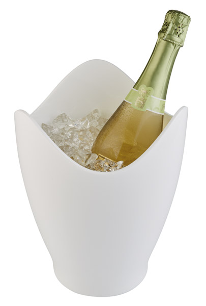 Bor és pezsgőhűtő Átm. 20cm, mag. 25cm, 3,5l, fehér műanyag