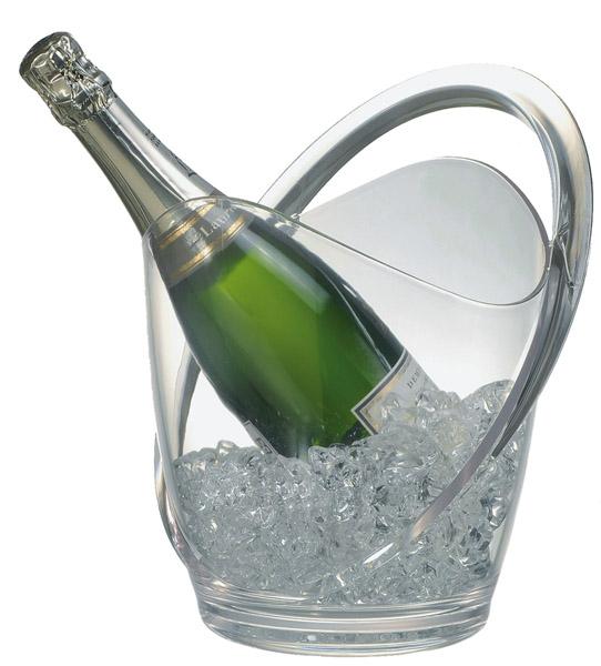 Bor és pezsgőhűtő tál 23x22x25cm, 3l, átlátszó műanyag