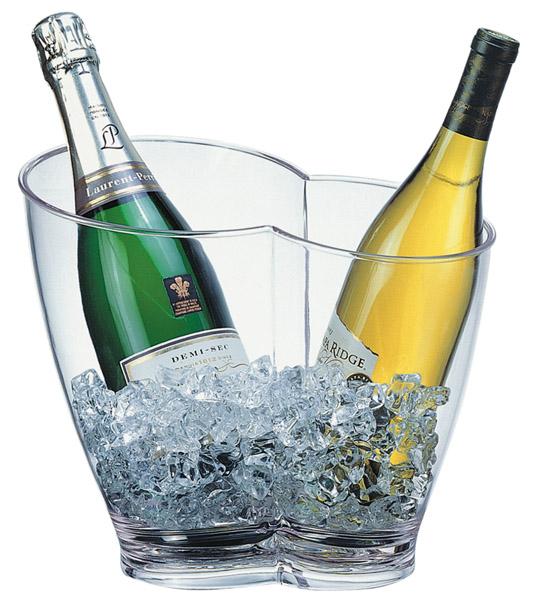 Bor és pezsgőhűtő tál 30,5x21,5x26cm, 4l, átlátszó műanyag