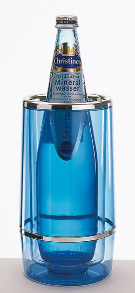 Palackhűtő duplafalú, átm:12/10cm mag:23cm Kék