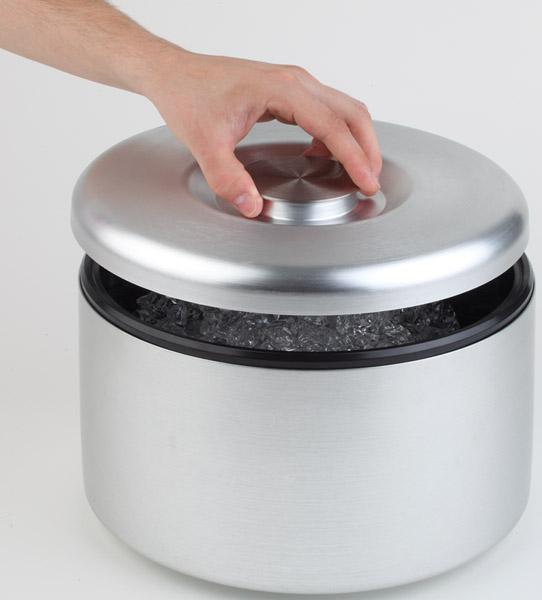 Jégvödör MAXI átm.18,5cm, mag.20cm, 5l (alumínium külső, műanyag belső)