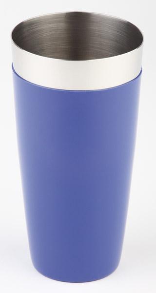 Boston shaker, két részes - kék, csűszásmentes aljjal, átm: 9cm, mag:30cm, 0,7L