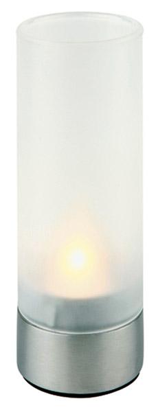 Asztali mécsesek rm.acél talp+matt üvegbúra mag:15cm, átm:5cm 2db/csomag (AP03020)