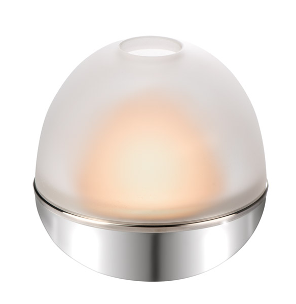 Mécses tartó gömb 12x11,5cm, rm acél  (AP03033)