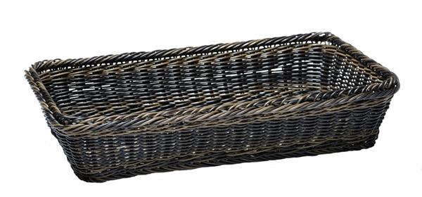 Kenyérkosár műrattan, GN 1/1, 53x32,5cm, mag.10cm, sötét barna