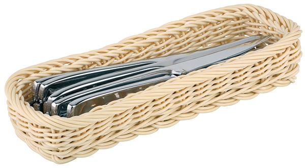 Evőeszköztartó, műrattan, 27x10cm, mag:4,5cm