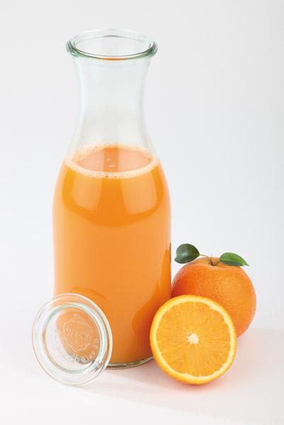 WECK üveg 1 literes, fedővel, 6 db/karton (6 üveg + 6 fedő)