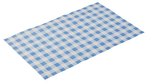 "Zsírpapír snack tartóba, 42x15cm 500DB/csomag ""kék kockás"" DESIGN (AP40673)"
