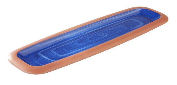 LA VIDA tálca 53x16,2x3,5cm, GN2/4, kék (AP84146)