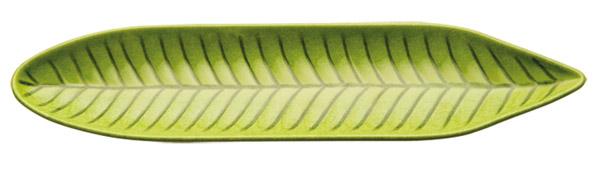 NATURAL tál, levél alakú, 34x8x2,5cm zöld (AP83862)