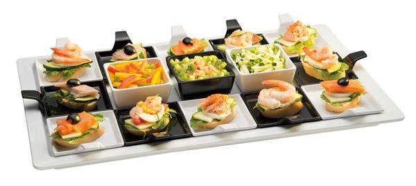 Tálca finger food kanálhoz (83878-83879), fehér, 53x32,5x2,5cm, GN1/1 (AP83828)