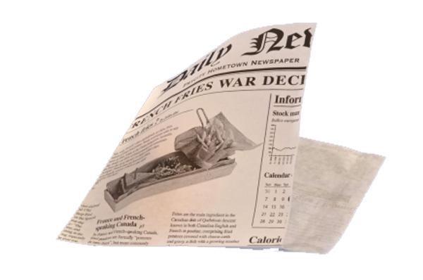 """Papírtasak """"ÚJSÁGPAPÍR"""" design 160 x 170 mm, 1000 DB (7,96 Ft/db(SZUP01717)"""