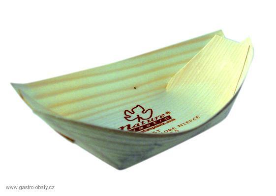 Fa, hajó alakú tálka 140 x 70 mm 100 db (23,62 Ft/db) (SZHF14070)
