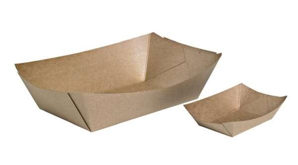 Csónak alakú tálka, barna, 135x100x23mm, 200ml, 250 db (15,10 Ft/db) (SZPTE1310)