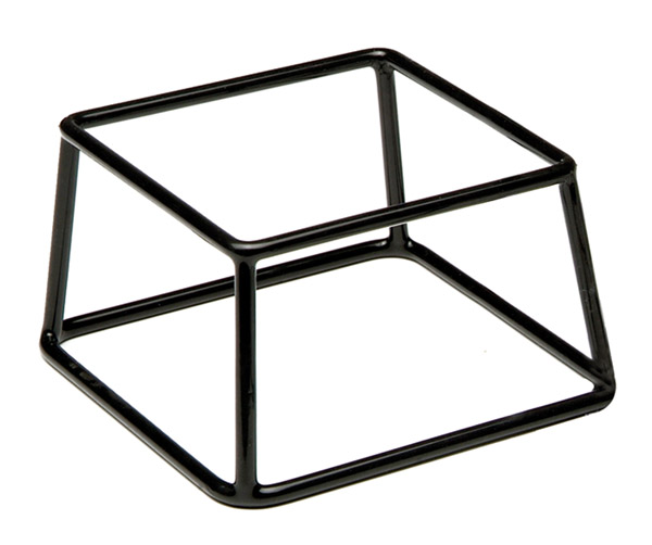 """Kiemelő állvány """"MULTI"""" 18x18cm, mag: 10cm, fém, csúszásmentes bevonattal (A33251)"""