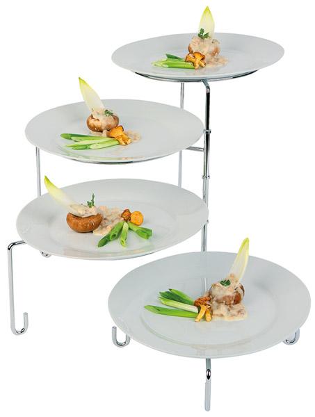 Kiemelő állvány 31 cm es tányéroknak, szétnyitható, átm: 34, mag: 37cm,  (AP33225)